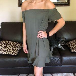 Off the shoulder cocktail dress